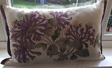 Laura Ashley Honeysuckle Cushion with Silk Embroidery in Grape 60cm x 40cm  NEW