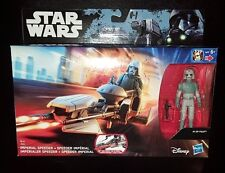 Star Wars Imperial Speeder + AT-DP Piloto Rogue uno/rebeldes figura + Conjunto De Bicicleta Nuevo