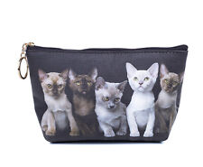 Burmese Kittens Cat Toiletry Cosmetic Purse Image both sides