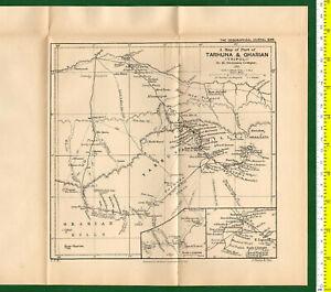 #41966 Vintage map.of Tarhuna & Gharian [Libya]  Royal Geog.Society England1896.
