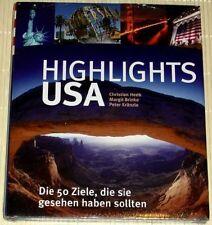 NEU, OVP - HIGHLIGHTS USA - 50 Ziele, die Sie gesehen haben sollten - Ch. Heeb