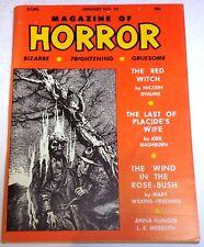 Magazine of Horror #19 - US digest - January 1968 - Dyalhis, Wilkins-Freeman
