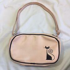 Rockabilly Cat Purse Pink Vinyl Kitty Psychobilly Bag Vintage Reproduction