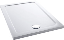 Mira Flight Shower Tray Low Profile Acrylic Stone Rectangular & Waste 1200x760mm