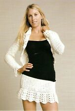 SURELY CHIC Jacket & Skirt/Apparel/Crochet Pattern INSTRUCTIONS ONLY