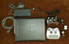 Xbox 360 120GB Black Console Bundle, 2 Wireless Controllers, Chatpad -Good Cond!