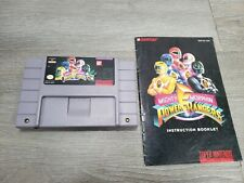 Mighty Morphin Power Rangers (SNES Super Nintendo) TESTED AUTHENTIC W/ MANUAL