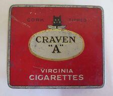 Craven 'A' - Vintage Red Virginia Cigarettes Tobacco Tin