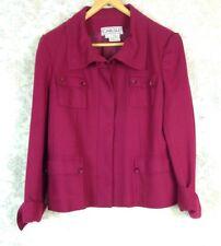 Carlisle Women's Burgundy/Maroon Wool Blend Coat Jacket Sz 14 / US