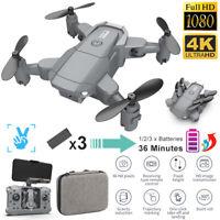 4K Mini FPV Selfi Wireless WiFi Aerial 4K HD Camera Foldable RC Drone Quadcopter