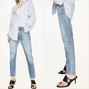 SALE Mid Rise Vintage Distressed Slim Boyfriend Jeans Size 6 US 2 34 Blogger ❤