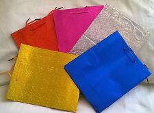 Pack of 3 Holographic Gift Bags 21.5 x 18 x 7.5cm Wedding Party Various Colours
