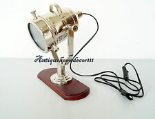 Collectible Table Lamp Searchlight With Wooden Base Spot Light Beautiful Decor..