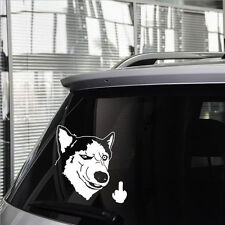 Funny Car Sticker Vinyl Decal Rear Husky dog Motorcycles  Window Decal Car