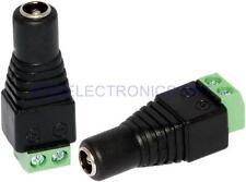 2Pcs Cat6 Cat5 Cable CCTV Camera UTP DC Plug 2.1mm 5.5mm Female Power Connectors