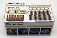 10 Stück BIG HOUSE LED Flaschenlicht Lichterkette