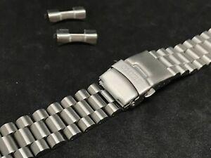 22mm seiko PRESIDENT stainless steel bracelet mens gents watch strap double lock