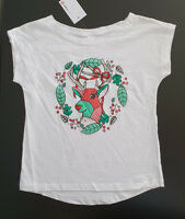 BNWT Girls Sz 7 Cute Pug Print Pink Long Sleeve Stretch Tee Top