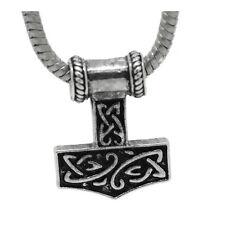 Thor's Hammer Mjolnir Norse Mythology Dangle Charm for European Bead Bracelets