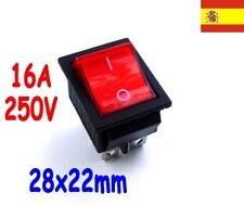 1x interruptor 220V Rojo iluminado switch ON/OFF SPDT 125v 250v 230v    82
