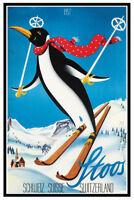 Stoos Schweiz Switzerland 1957 Blechschild Schild gewölbt Tin Sign 20 x 30 cm
