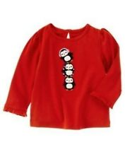 NWT Gymboree Girls Winter Penguin Stacked Penguins Top Size 12-18 M