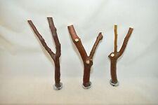 Manzanita Bird Perches Set of 3 Forked Multibranch w/ hardware * Bumpy Bark :)