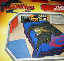 "How To Train Your Dragon 2 Plush Micro Raschel Twin Throw Blanket 62"" X 90"" NEW!"