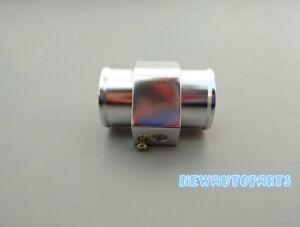 "28mm/1.1"" Water Temp Temperature Joint Pipe Sensor Gauge Radiator Hose Silver"