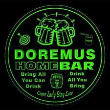 4x ccq12007-g DOREMUS Home Bar Ale Beer Mug 3D Engraved Drink Coasters