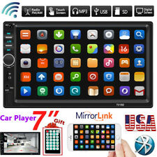 """7"""" Car Stereo Double 2DIN Radio MP5 Bluetooth TouchScreen USB AUX Remote Control"""