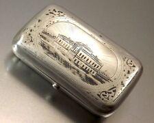 TABATIERE EN ARGENT MASSIF NIELLE 84 RUSSIE RUSSIAN SILVER SNUFF BOX XIX° SIECLE