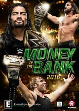 WWE - Money In The Bank 2016 (DVD, 2016)  Brand new, Genuine & Sealed  Region 4