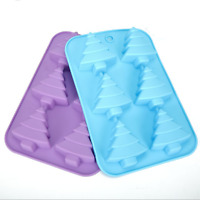 New 6 Cups Christmas Tree Soap Mold Cake Cookie Mold DIY Baking Tool Silicone