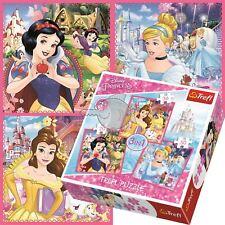 Trefl 3 in 1 20 36 and 50 Piece Disney Princesses Girls Fantasy Jigsaw Puzzle