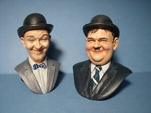 LAUREL &  HARDY  1/8  PAINTED  FIGURES  MADE   BY  VROOM   MASCOT   PHOENIX
