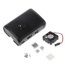 Pi Box ABS Case w/ Fan Module for Raspberry Pi 3/2/b plus with 3pc Heat Sink New