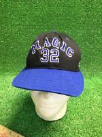 Vintage Magic 32 SnapBack Black Blue Orlando NBA Hat Cap Fast Free Ship