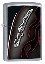 Zippo Harley Davidson Street Chrome Lighter With Harley Logo, Item 28812, NIB