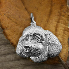 Sterling Silver TOY POODLE DOG Pendant or Charm