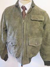 "POLO Ralph Lauren Zipped Suede Harrington Jacket S 34-46"" Euro 44-46 - Green"