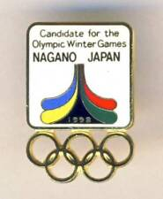 1998 Winter Olympics NAGANO Japan BID PIN Badge Olympic CANDIDATE