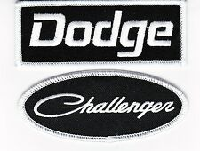 DODGE CHALLENGER BLACK WHITE SEW/IRON ON PATCH EMBROIDERED HEMI MOPAR CAR