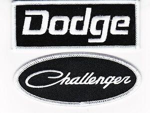 DODGE CHALLENGER BLACK WHITE SEW/IRON ON PATCH EMBROIDERED HEMI MOPAR SRT DEMON