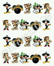 Disney Mickey Mouse Cinco De Mayo Nail art water decals Free shipping!