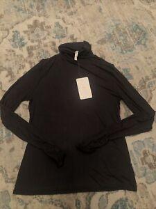 Fabletics Charcoal Knit Top Jess Long Sleeve Turtleneck Size XL NWT