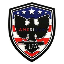USA Flag Eagle Patriotic NRA 2nd Amendment Hook Patch [3D-PVC Rubber-MPE-1]