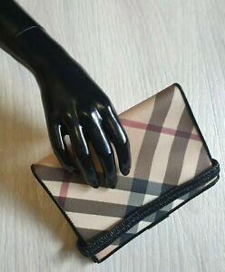 Authentic BURBERRY Nova Check Case for documents holder mini folder plaid