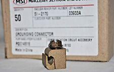 50 Brass Bolt Grounding Connectors 1/4-28 Bolt #8 AWG Maclean Senior Industries