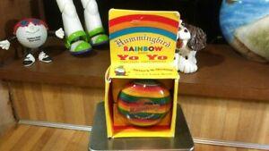 Vintage Hummingbird Rainbow Wooden YoYo,1987,rare,new!